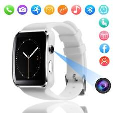 Waterproof Bluetooth Smart Watch Phone Mate For iphone IOS Android White