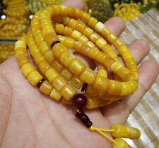 Natural BALTIC AMBER Beeswax Fashion Boutique Wax 108 Beads Bracelet Collection