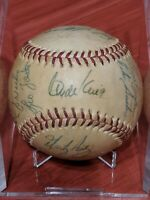 1975 ATLANTA BRAVES 25 AUTOGRAPHS TEAM BALL PHIL & JOE NIEKRO DUSTY BAKER GASTON