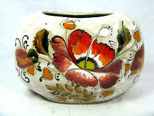 Beautiful / schöne Erhart Schiavon pottery / Keramik vase Italy  14 cm  x 19 cm
