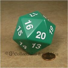 NEW 55mm Green Giant Jumbo Countdown D20 Polyhedral Spindown Dice RPG D&D MTG