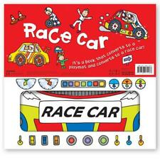 Miles Kelly Convertible Race Car 3 in 1 Book Playmat and Toy for Children