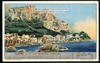 Island Of Capri Marina Grande Italy 1930s Trade Ad Card