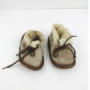 Handmade Leather Suede Wool Moccasins Childs Kid Toddler Authentic