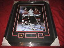 Stan Mikita /  Bobby Hull Chicago Blackhawks 16x20 dual signed HUGE framed wow