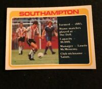 TOPPS 1979 FOOTBALL CARD #393 SOUTHAMPTON CHECKLIST UNMARKED