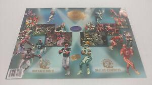 1994 Press Pass Super Bowl XXVII Buffalo Bills Dallas Cowboys Jumbo Promo Card