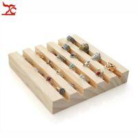 Wood Jewelry Ring Storage Display Tray Ring Jewelry Organizer Holder
