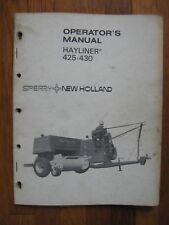 New Holland 425 430 square Baler operators manual