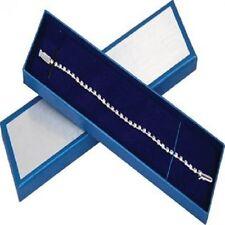 "Premium Stainless Steel Crystal 8"" Tennis Bracelet w/ clear diamond-cut crystals"