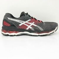 Asics Mens Gel Nimbus 17 T507N Gray Red Running Shoes Lace Up Low Top Size 11.5