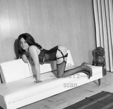 1960s Negative-sexy nude brunette pin-up girl in lingerie-cheesecake t271664