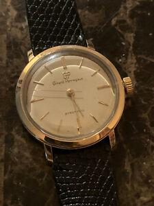 Vintage 14k Solid Gold Girard Perregaux Gyromatic Wristwatch- Running!