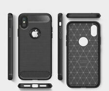 case for apple iPhone 6s 7 8 X XS XR 11 pro max cover black luxury carbon fiber