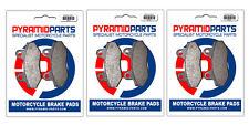 Hyosung GT 650 2004 Pastillas De Freno Delanteras Y Traseras Conjunto Completo (3 pares)