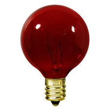 NEW box of 25 Satco S3833 - 10 watt G12 1/2 Incandescent Bulb, Transparent Red