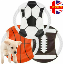 Durable Rope Canvas Flying Disc - Interactive Frisbee Chew Toy - Dog / Puppy
