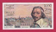 (Ref: W.108)  1000 FRANCS RICHELIEU 3/02/1955 (SUP+) RARE