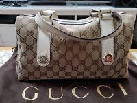 Gucci canvas monogram bag