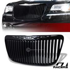 For 2011-2014 Chrysler 300/300C Blk Vertical Front Hood Bumper Grill Grille Abs