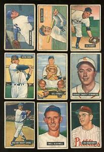 1951 Bowman - Lot of 90 Different - Fair to Poor