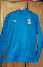 New Adult Wigan Athletic FC light rain jacket, size small  with foldaway hood