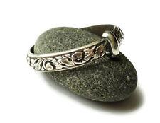 Outlander Wedding Ring - Sporran Key - Thistle - Blacksmith - Antique - sterling