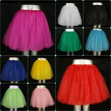 NEU! Tütü Tutu Tüllrock Ballettkleid  5 Lagen S-2XL Party Petticoat Rock