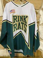 Vintage Rink Rats Hockey Jersey men's XL Green White #14 Kraven