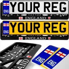 ENG English flag badge Standard Pressed Number Plates Metal Car REG Road Legal