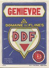 ETIQUETTE / GENIERVRE DOMAINE DE FLINES / TOURNAIS