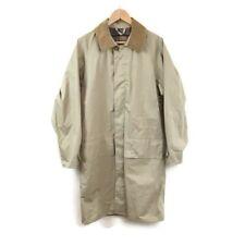Barbour Jacket S Stone Tan Beige Coated Cotton Long 3/4 Coat Lightweight Men's
