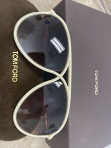 TOM FORD MAXIMILLION TF206 Sunglasses 100% Authentic New White Only One Here 25F