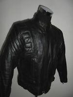 ASHY Motorradjacke Lederjacke AMX bikerjacke 80s oldschool biker jacket 46 M