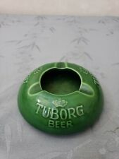 Vintage Tuborg Beer Ashtray ~ Green ~ Denmark ~ Nymolle