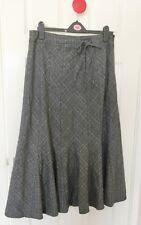Per Una Marks & Spencer Grey Mix Midi Length Skirt Size 14 Short