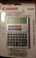 Canon FN-600 Folding Interactive Financial Calculator Brand Bew