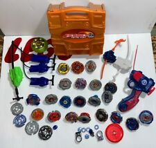 Beyblade Lot Of 21 Spinners Pegasus Launcher 2010 Hasbro Metal Fury Case