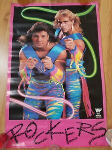 The Rockers Original WWF Poster 1989 Shawn Michaels Marty Jannetty WWE Vintage