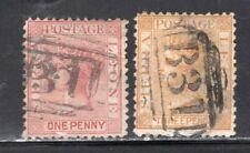 "Sierra Leone 1872 QV 1p + 3p Perf 12.5 Wmk ""CC Sideways"" Fine Used CV$100"