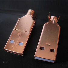 High quality Rose gold USB A Male to B Male Plug Gold Plated Connector