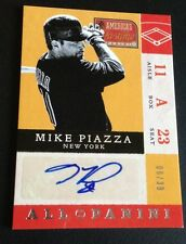 2013 PANINI AMERICA'S PASTIME MIKE PIAZZA AUTO AUTOGRAPH 6/39 METS NICE