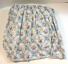 "(1) Nursery Floral Crib Skirt ~ 18"" Drop ~ Pink Blue Yellow White"