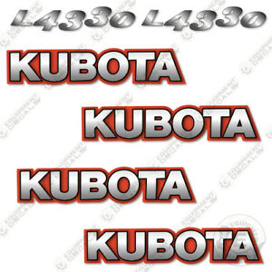 Kubota L4330 Decal Kit Tractor Decals  - 3M VINYL Aftermarket Sticker Set!