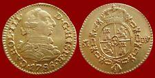 Hermosa medio escudo moneda de oro, CARLOS III. España. Madrid 1786. D · V