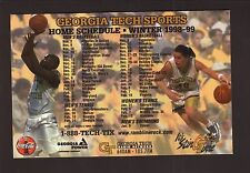 Georgia Tech Yellowjackets--Dion Glover--1998-99 Basketball Magnet Schedule