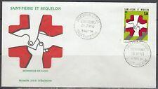 St Pierre & Miquelon Scott 434 FDC - Honoring Blood Donors