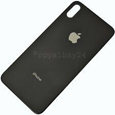 iPhone XS Max 10s Echt-Glas Akkudeckel Rückseite Schwarz backcover Space-Grau