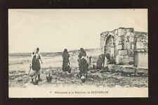 Greece ZEYTENLIK Refugees at the well - after the 1917 fire disaster? PPC