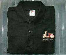 New Designer Scooter club Black Polo Shirt various sizes Mod Northern Soul